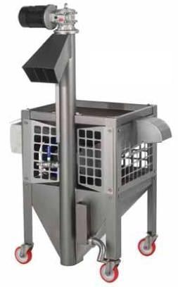 Πλυντήριο-αποφυλλωτικό-ανελκυστήρας ελαιοκάρπου (ελιάς) Toscana Enologica Mori τύπου DLE BABY, για ερασιτέχνες και μικρούς παραγωγούς ελαιολάδου