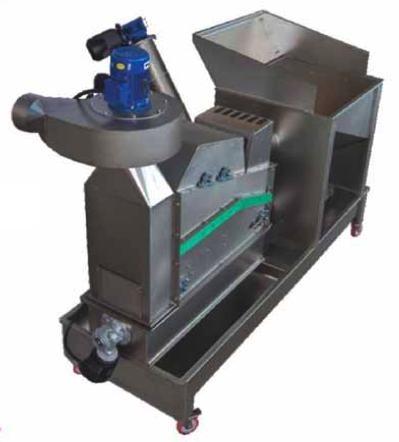 Πλυντήριο-αποφυλλωτικό-ανελκυστήρας ελαιοκάρπου (ελιάς) Toscana Enologica Mori τύπου DLE Super, με δυνατότητα αφαίρεσης κλαδιών &  επεξεργασίας 1800 κιλά ελαιοκάρπου την ώρα